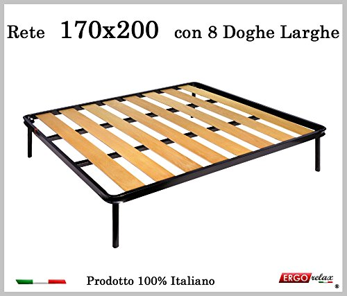 Ergorelax Rete a 8 doghe larghe in faggio. 100% Made in Italy - 170 cm x 200 cm