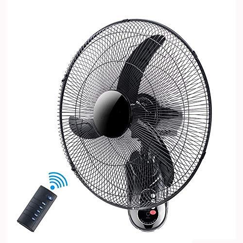Afstandsbediening wandventilator Wandventilator, 18/20 Inches Oscillerende/Roterende 3 Snelheden Fan zwenkbare kop en mechanische Electric Cooling for de zomer elektrische ventilator for wandmontage