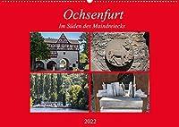 Ochsenfurt im Sueden des Maindreiecks (Wandkalender 2022 DIN A2 quer): Ochsenfurt ist eine typische mainfraenkische Kleinstadt mit intakter Stadtmauer (Monatskalender, 14 Seiten )