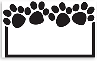 Paw Print White Enclosure Cards - 3-1/2in. x 2-1/4in. (100)