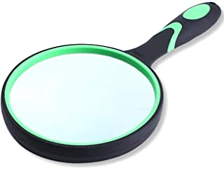 Magnifying Glass 10X Handheld Magnifier for Reading Maps Thickened Rubbery Frame Perfect for Seniors and Kids