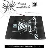 TEVO Tarantula letto di calore Grande area di costruzione 220*280*3.5mm Nero Alluminio letto di calore Stampa 3D Calore piastra per stampante 3D parte