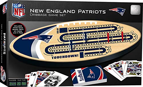 MasterPieces NFL New England Patriots Cribbage Game Set, For Ages 8 & Up , 14