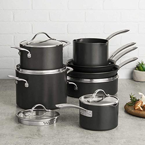 Kirkland Signature 12-piece Hard Anodized Cookware...