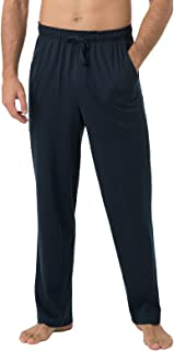 LAPASA Men's Lightweight Relaxed Fit Polycotton Loungewear Pants with Pockets M23