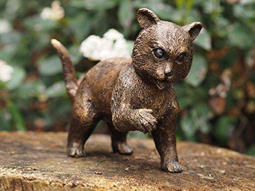 H. Packmor GmbH - Figura de bronce para jardín, diseño de gato