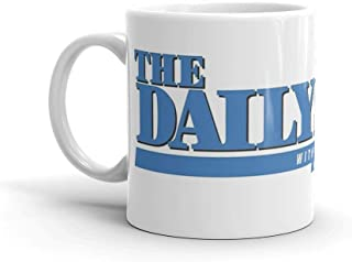 The Daily Show with Jon Stewart. 11 Oz Classic Coffee Mugs, C-handle And Ceramic Construction. 11 Oz Ceramic Coffee Mugs With C-shape Handle, Comfortable To Hold