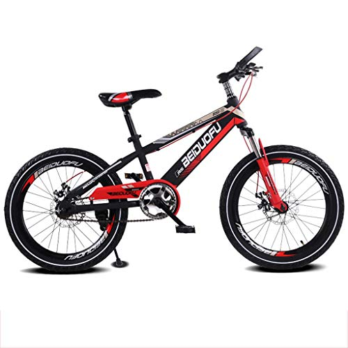 Kinderfahrrad 16/18/20 Zoll Mountainbike Scheibenbremse Dämpfung Single Speed Kids Bikes (Farbe : Red, größe : 16 inches)