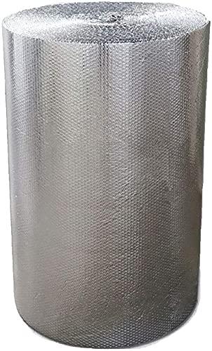 Isolante termico 4mm Autoadesiva Rivestimento Isolante Radiatore Isolamento Termico Foil Isolante Riflettente Isolamento Termosifoni Doppio Foglio Isolante In Alluminio Per L uso Su Tetti (Size:1x30m)