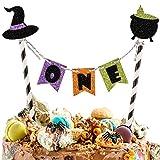 One Cake Topper, Glitter Halloween Cake Topper, First Birthday Cake...