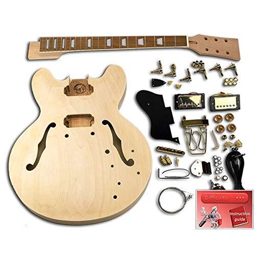 Guitarra DIY - ES335 Gold, caoba