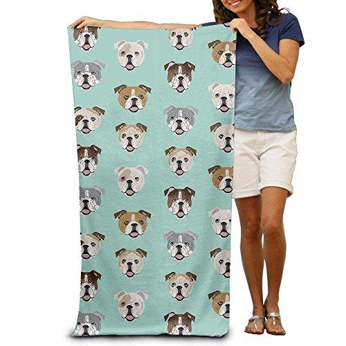 Sula-Lit Stupid Funny English Bulldog Bad Handtücher Strand Handtücher Waschlappen Erwachsene Weich saugfähig