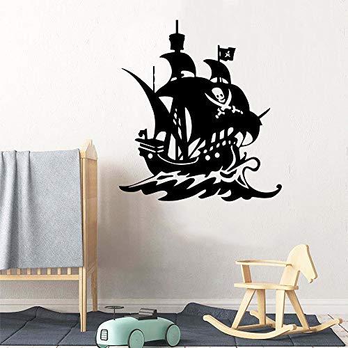 Sala de estar dormitorio mural arte moderno barco vinilo papel pintado niños habitación decoración vinilo decoración decoración vinilo etiqueta de la pared 43cm X 47cm