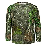 Mossy Oak Men's Standard Hunting Shirt Camo Clothes Long Sleeve, Obsession, Large