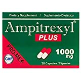 Ampitrexyl Plus, Formula 100% Natural, Dietary Supplement, Helps You Support Your Immune System, Antioxidant, 30 Capsules, 1000 mg, Box