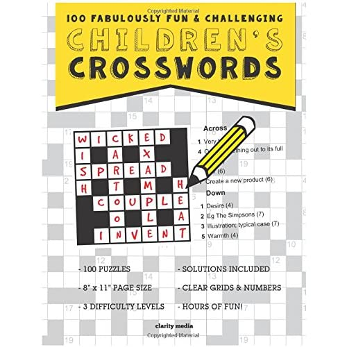 Children's Crosswords: 100 fabulously fun & challenging puzzles for