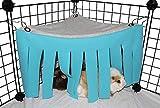 ASOCEA Hámster para Animales pequeños Tienda de campaña Hamaca Escondite de Mascotas Jaula Accesorios Nido Cama para Conejillo de Indias Chinchilla Erizo Rata Ardilla Hurón Conejito Enano (Azul)