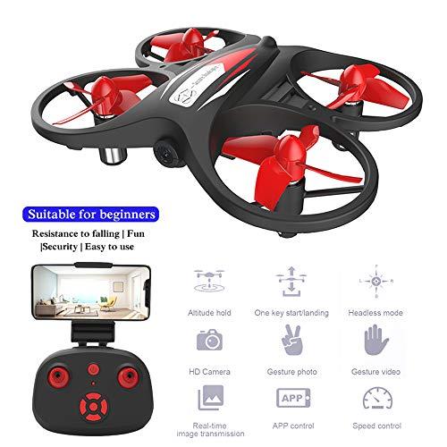 Mini Drone KF608 Met 720P HD Camera Altitude Hold Remote Control Quadcopter Helicopter Voor Beginners, Zeer Geschikt Als Cadeau Voor Uw Kind,Black,3battery
