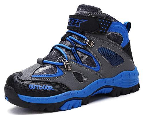 Kinder Wanderschuhe Jungen Wanderstiefel Mädchen Outdoor Trekking Schuhe rutschfeste Mid Trekkingstiefel für Unisex Herren Damen