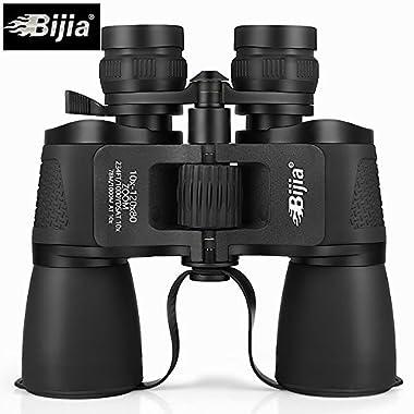 BIJIA 10-120X80 Long Range Zoom Hunting Telescope Professional Binoculars High Definition Nitrogen Waterproof