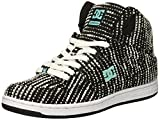 DC Women's Pure HIGH-TOP TX SE Skate Shoe, Charcoal/White, 7 Medium US