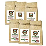 Java Planet - Coffee Beans, Organic Coffee Sampler Pack, Whole Bean Variety Pack, Arabica Gourmet Specialty Coffee, 1.32 lbs of coffee packaged in six 3.2 oz bags…