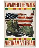 AZSTEEL I Walked The Walk Vietnam Veteran Vertical Poster -