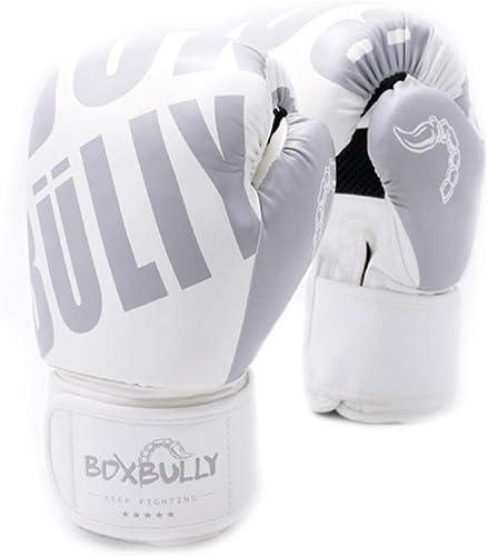 WSHMQJST Gants de Boxe Blancs Sanda pour Hommes et Femmes, Gants de Boxe Monster Muay Thai, EntraineHommest pour la Jeunesse, Muay Thai Professional