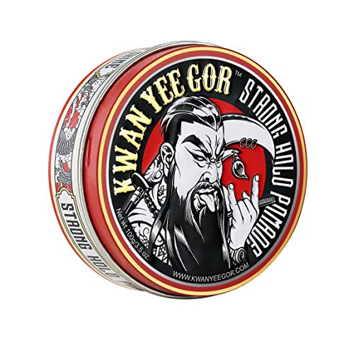 KWAN YEE GOR Strong Hold High Shine Hair Pomade 3.5oz for Men Cream,Imperial Finish Paste with Scent,Fiber Gel for Edge Control,Original Smooth Texture Products,Water Based Style for Head
