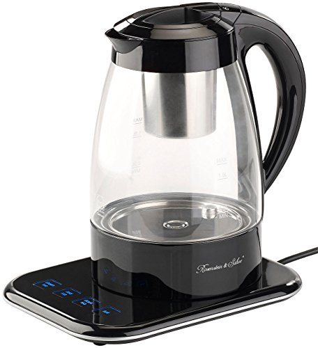 Rosenstein & Söhne Teemaschine: Vollautomatischer Wasserkocher und Teebereiter WSK-500.tmp, 1,2 l (Wasserkocher mit Teekanne)
