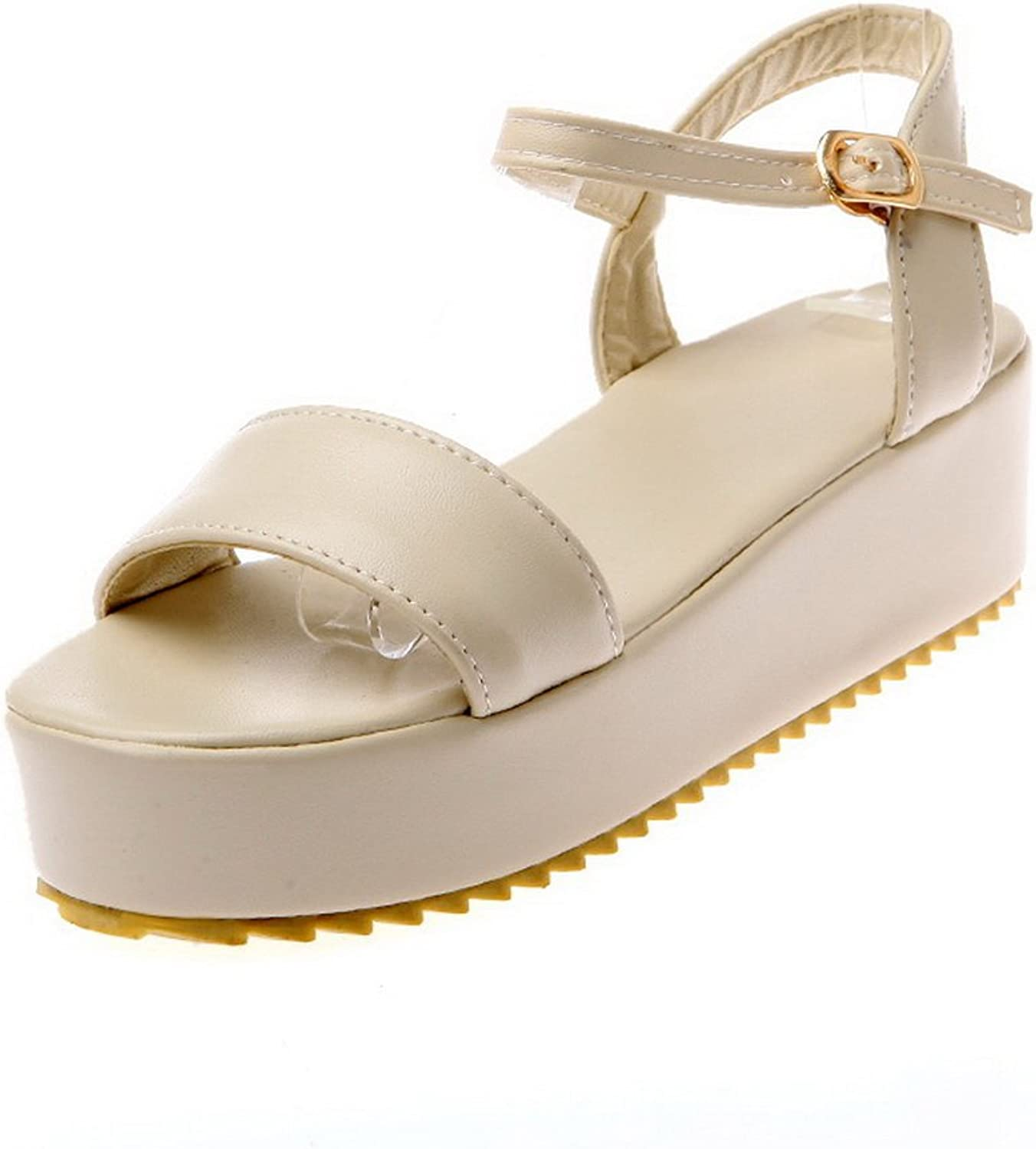 1TO9 Womens Puncture-Resistant Non-Marking Cold Lining Urethane Platforms Sandals MJS03244