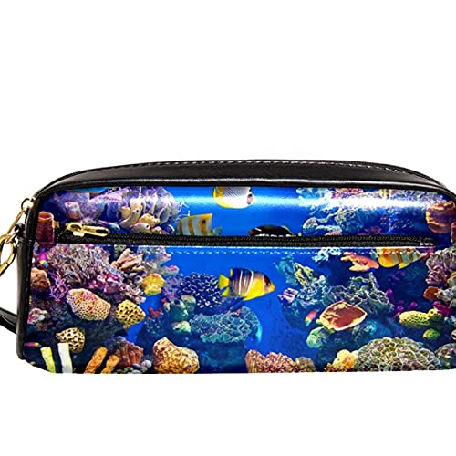 Étui à crayons Marqueur Sac à stylo Boîtes d'organisation de bureau Poisson d'aquarium Pochette de rangement