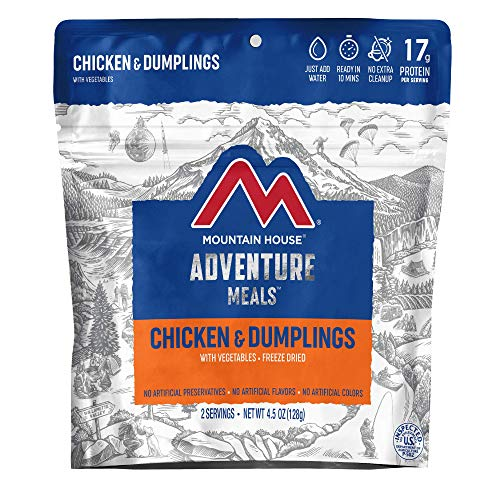 Mountain House Chicken & Dumplings | Freeze Dried Backpacking & Camping Food |2 Servings