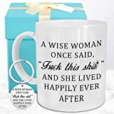 Funeon Funny Coffee Mug retirement graduation relaxation birthday Christmas gift for Wise Woman Mom Wife Aunt Grandma Sister Friend Coworker Novelty Cool White cup Present Idea with keychain