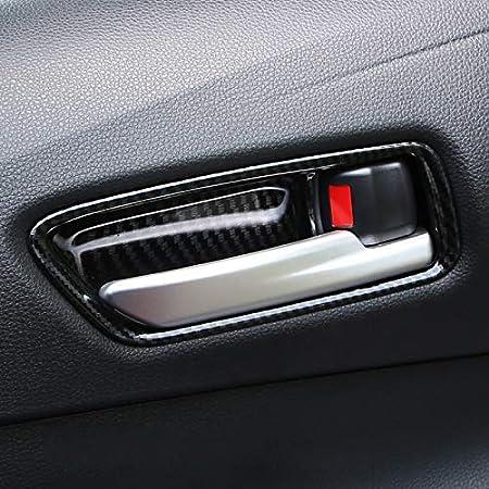 High Flying Für Corolla E210 Hybrid 5 Türer Corolla Touring Sports 2019 2021 Interieur Türgriff Interieurleisten 4 Stück Abs Kunststoff Kohlefaserfarbe Auto