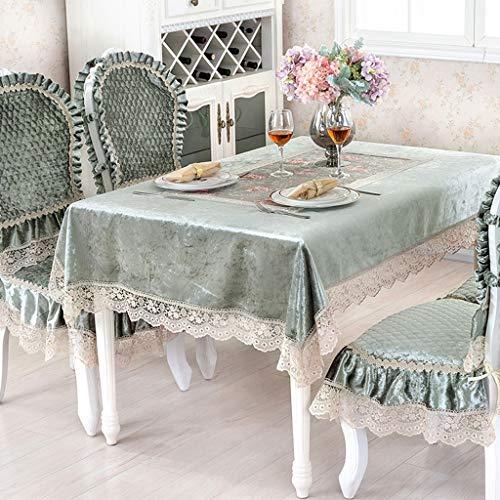 Dentelle nappe nordique Style or velours Square Rectangle Cartoon Deer Table Cover pour la décoration intérieure, fêtes d'anniversaire, réceptions de mariage, tables de salle à manger
