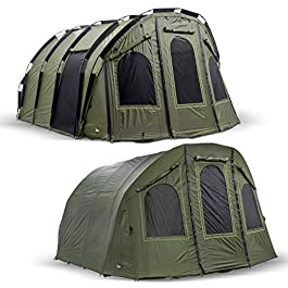 Lucx® Bivvy + Winterskin « Bigfoot » 2-6 personnes XXL + couverture pour pêche à la carpe + tente de camping