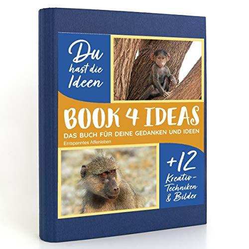 BOOK 4 IDEAS modern   Entspanntes Affenleben, Eintragbuch mit Bildern