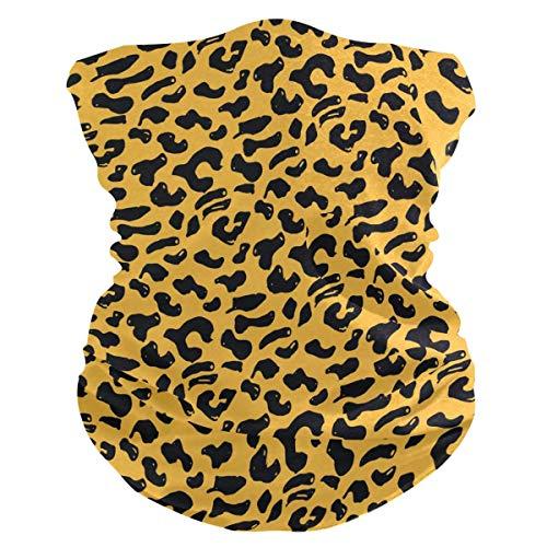 Xiumeimei Leopard Animal Skin Print Bandana Scarf Polaina del Cuello Venda Polvo de pasamontañas Cubiertas...
