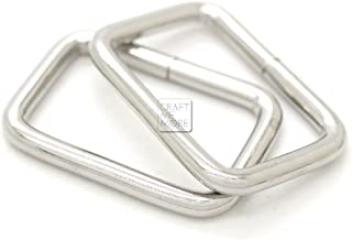 CRAFTMEmore Metal Rectangle Buckle Ring Fits 5/8