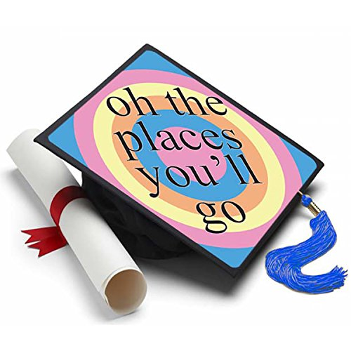 Oh The Places Graduation Cap