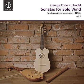 Handel: Sonatas for Solo Wind, 415Hz, Vol. 1 (Cembalo Accompaniments)