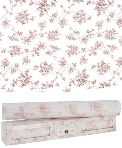 Scentennials Scented Drawer and Shelf Liners - Floral Print - Six (6) Large 16.5 x 22 Inch Non-Adhesive Sheets - Perfect for Closet Shelves and Dresser Drawers (Island Gardenia)