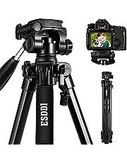 Treppiede - ESDDI 170 cm Treppiedi Fotocamera Alluminio Compatto Treppiede Leggero Per Canon Nikon Sony Olympus DSLR DV Comprensivo di Borsa per il Trasporto