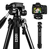 Camera Tripod ESDDI 70inches Compact Lightweight Aluminum Tripod with Phone Clip and Carry
