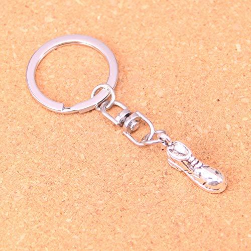 TAOZIAA Charmante Neue Silber metallic Retro Fußballschuhe Schlüsselanhänger Accessoires Chrom Schlüsselanhänger