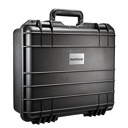 Mantona Outdoor Foto Koffer für DSLR Kamera, GoPro Actioncam/Foto-Equipment (Größe M+, wasserdicht, stoßfest, staubdicht) schwarz