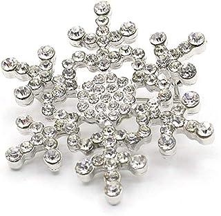 PULABO - Broche de nieve para mujer, diseño de copo de nieve, gran calidad y seguridad creativa.