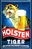 Blechschild Nostalgieschild Holsten Tiger Bier Hamburg Schild Brauerei retro Werbung