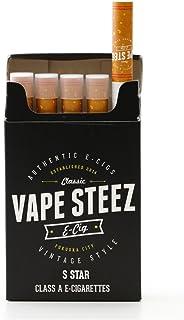 VAPE STEEZ 使い捨て 電子タバコ たばこ型 5本セット 吸引回数300回 VAPE (S Star)